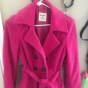 Old Navy pink coat!